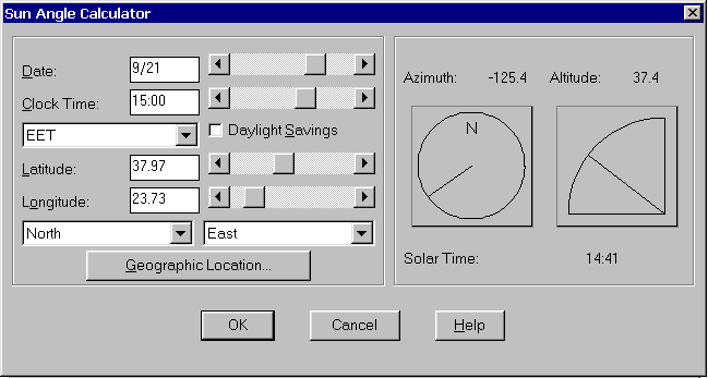 Optimum Shading Device With AutoCAD By Thanos N Stasinopoulos - Altitude calculator